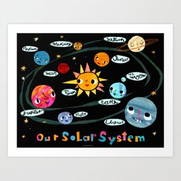Our Solar System Art Print