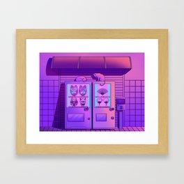 Neon Vending Machines Framed Art Print