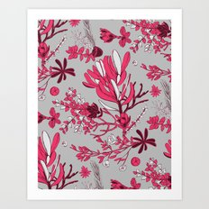 Fuchsia Cradle Flora Art Print