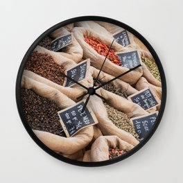 Spices in Pisa, Italy Wall Clock