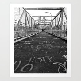 Williamsburg Bridge Stroll Art Print