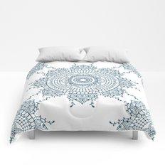 Mandala in Indian Ink #4 Comforters