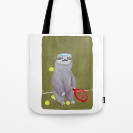 Sloths Are Bad At Things- Kevin the Tennis Star Tote Bag
