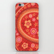 Bright Red Flowers iPhone Skin