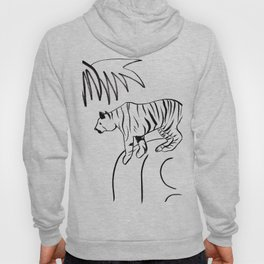 Tiger On A Rock Hoody