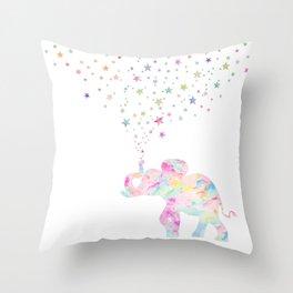 MAKE ME HAPPY ELEPHANT Throw Pillow