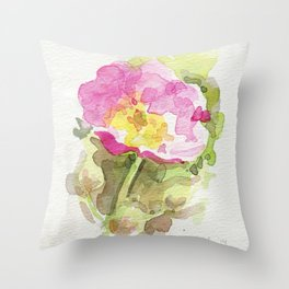Wild Summer Rose Throw Pillow