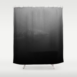 Whale shark of the deep Shower Curtain
