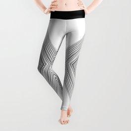 Fine lines geometric art, Zen and balance symmetry art Leggings