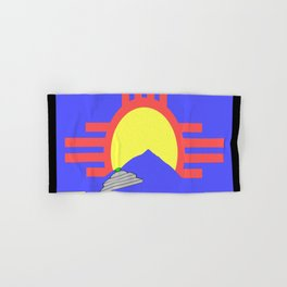 flag of Roswell with flying saucer Hand & Bath Towel