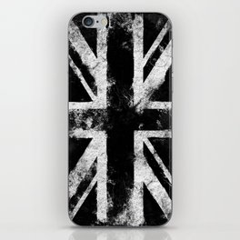 Black Grunge England flag iPhone Skin