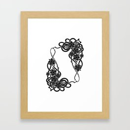 Abstract floral frame Framed Art Print
