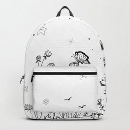 Floral Garden Doodle Art Backpack