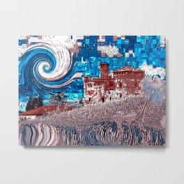 Castello Langhe -Art Digital Original- Metal Print
