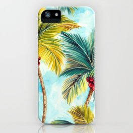 Palm Tree Allover iPhone Case