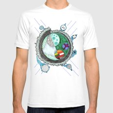 That Is No Moon! White Mens Fitted Tee MEDIUM