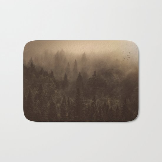 One Hundred Years of Solitude - Tree Forest Mountain Dust #Society6 Bath Mat