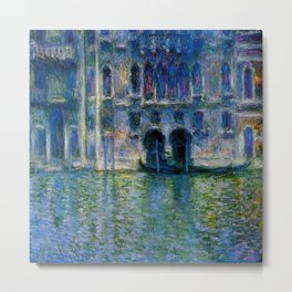 Claude Monet Palazzo da Mula, Venice Metal Print