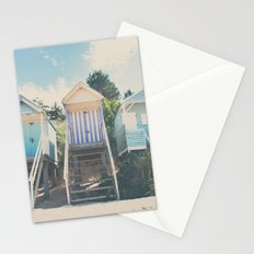 beach huts photograph Stationery Cards