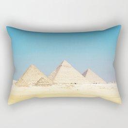 Pyramids Beneath Blue Skies Rectangular Pillow