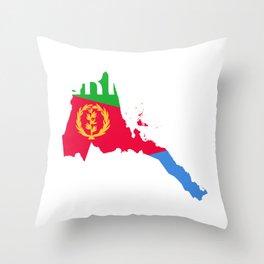 Eritrea Map product Habesha Flag Gift Idea design Throw Pillow