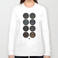 skyrim Long Sleeve T-shirts featuring Shield's of Skyrim by VineDesign