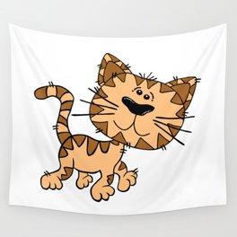 Cartoon Cat Wall Tapestry