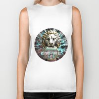 lions Biker Tanks featuring LIONS by infloence