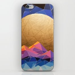 Geometric Sun over Mountains and ocean iPhone Skin