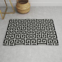 Greek Key (Gray & Black Pattern) Rug