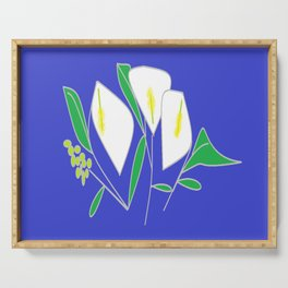 A bunch of Calla Lilies Serving Tray