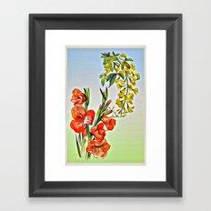 Flowers Kiss Framed Art Print