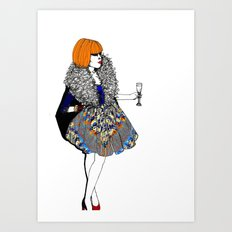 Party Dress Art Print