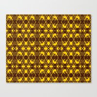yellow pattern Canvas Prints featuring yellow pattern by dedoma