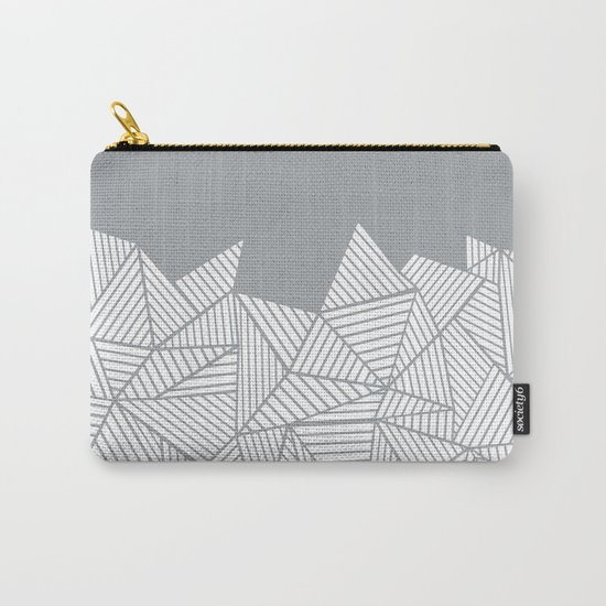 Abstract Mountain Grey Carry-All Pouch