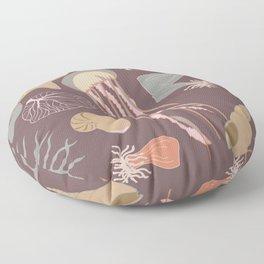 Dusty Sea - Purple Floor Pillow