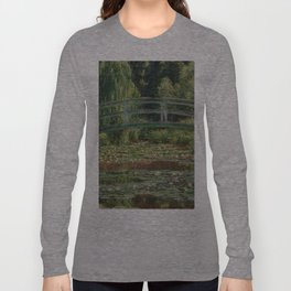 1899-Claude Monet-The Japanese Footbridge and the Water Lily Pool, Giverny-89 x 93 Long Sleeve T-shirt