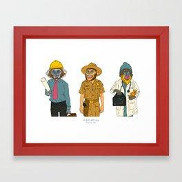 Monkeys for Kate Framed Art Print