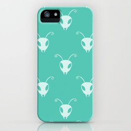 Bug Heads Insect Pattern Teal Green iPhone Case
