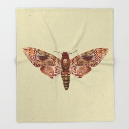 The Moth Throw Blanket