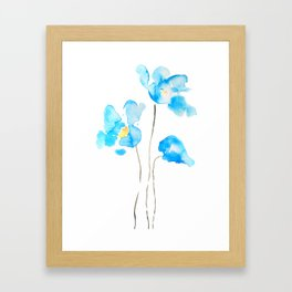 abstract Himalayan poppy flower watercolor Framed Art Print