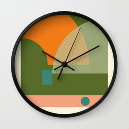 geometric abstract 50 Wall Clock