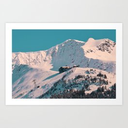 Mt._Alyeska Ski_Resort - Alaska Art Print