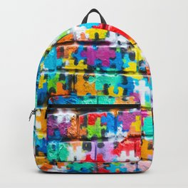Rainbow Puzzle Backpack