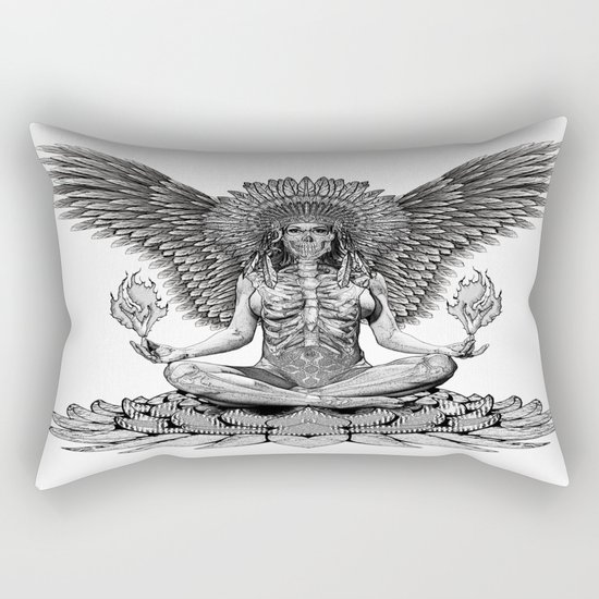 The angel start to pray... Rectangular Pillow