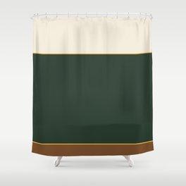 Vintage Pines Color Block Shower Curtain