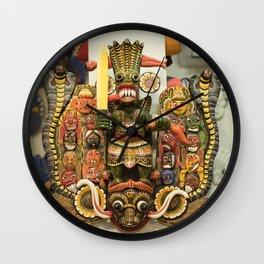 Naga Mask Wall Clock