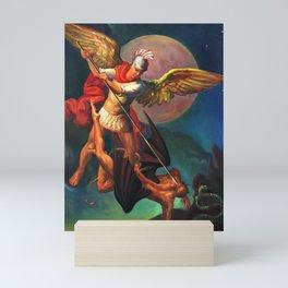 Saint Michael the Warrior Archangel Mini Art Print