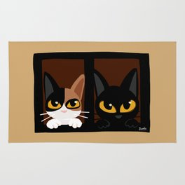Lovely two cats Rug