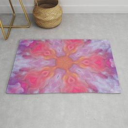 Smoky Purple Abstract Design Rug